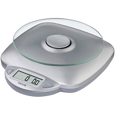 "Taylor Digital Food Scale, 8"" x 9.4"" x 2.8"", Silver"