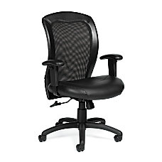 Offices To Go Luxhide Adjustable Mid