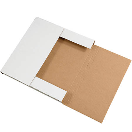 "Office Depot® Brand Easy Fold Mailers, 24"" x 24"" x 2"", White, Pack Of 20"