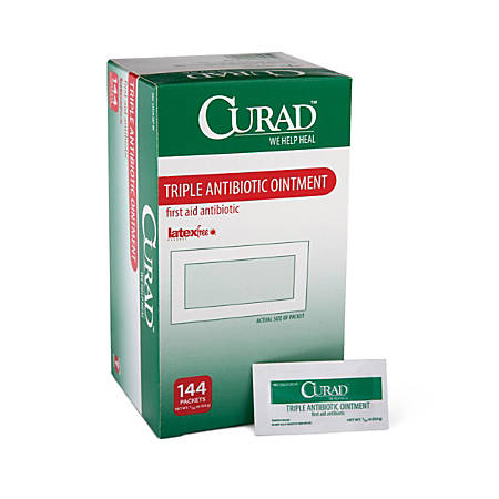 CURAD® Triple Antibiotic Ointment, 0.03 Oz, Pack Of 1,728