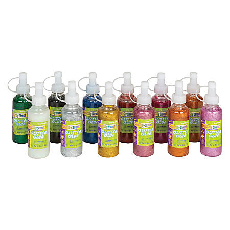 Creativity Street Glitter Glue, 4 Oz, Assorted Colors, Pack Of 12