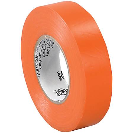 "Tape Logic® 6180 Electrical Tape, 1.25"" Core, 0.75"" x 60', Orange, Case Of 10"