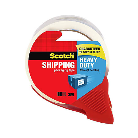 """Scotch® Heavy-Duty Shipping Packing Tape With Dispenser, 1.88"""" x 54.6 Yd., Clear"""