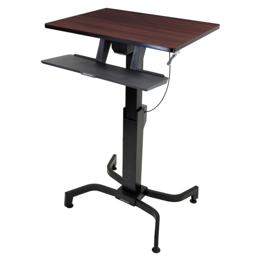 Ergotron WorkFit PD Sit Stand Desk WalnutBlack by Office Depot
