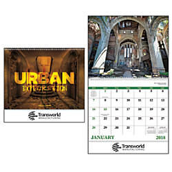 Urban Explorations 13 Month Calendar Spiral