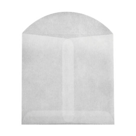 "LUX Open-End Envelopes With Flap Closure, 4"" x 4"", Glassine, Pack Of 50"