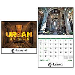 Urban Explorations 13 Month Calendar Stapled