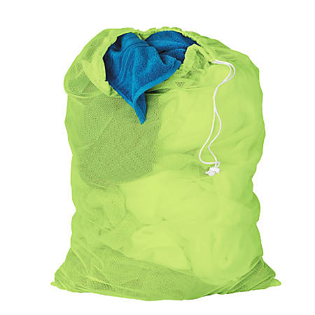 Honey-Can-Do Mesh Laundry Bags, Lime Green, Pack Of 2