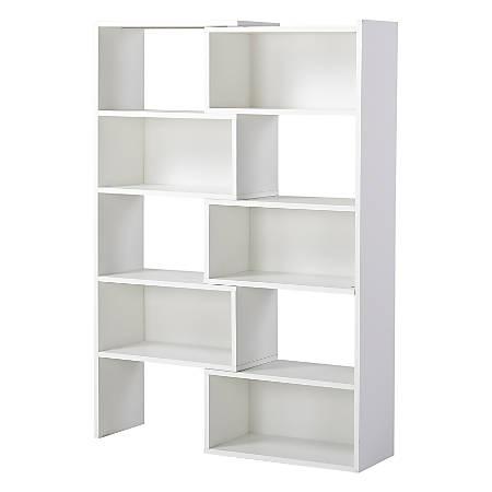 Homestar North America Expandable Bookcase, White