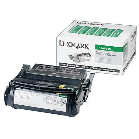 Lexmark™ 12A5849 Return Program High-Yield Black Toner Cartridge For Label Applications