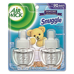 Air Wick® Scented Oil Refills, Snuggle® Fresh Linen, 0.67 Oz, Clear, 2 Refills Per Pack, Carton Of 3 Packs Item# 642866 at Office Depot in Cypress, TX | Tuggl