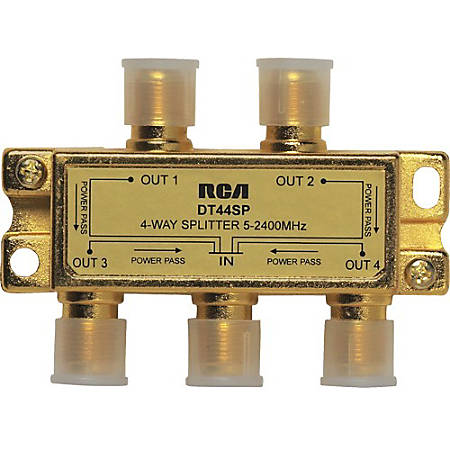 RCA 4 - Way 2.4 Ghz Splitter Bi-Directional - 2.40 GHz - 5 MHz to 2.40 GHz