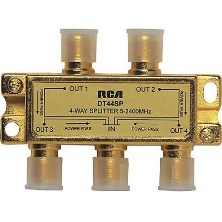 RCA 4 - Way 2.4 Ghz Splitter Bi-Directional
