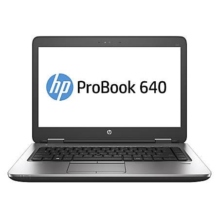 "HP ProBook 640 G2 Refurbished Laptop, 14"" Screen, Intel® Core™ i5, 8GB Memory, 128GB Solid State Drive, Windows® 10, RF625273"