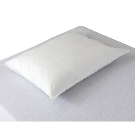 "Medline Multi-Layer Disposable SMS Pillowcases, 20"" x 29"", White, 10 Pillowcases Per Box, Case Of 10 Boxes"