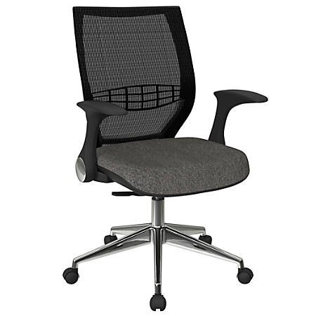 Office Star™ Pro-Line II ProGrid Fabric High-Back Chair, Charcoal/Black/Silver