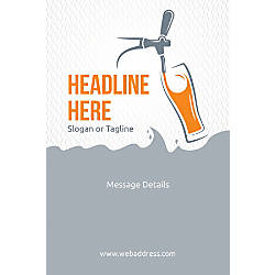 Adhesive Sign Beer tap glass Vertical