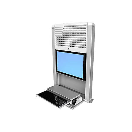 Ergotron® StyleView® Sit-Stand Wall-Mount Computer Workstation, Black