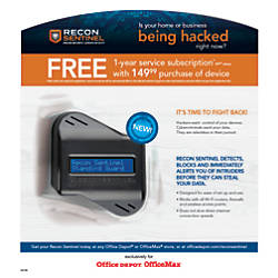 Recon Sentinel Cybersecurity Device Annual Service