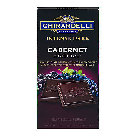 Ghirardelli® Intense Dark, Chocolate Cabernet Matinee, 3.5 Oz, Pack Of 12 Bags
