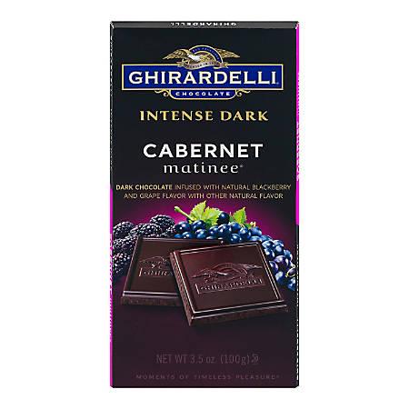 Ghirardelli® Intense Dark, Chocolate Cabernet Matinee, 3.5 Oz, Pack Of 12 Bags