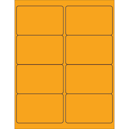 """Office Depot® Brand Labels, LL179OR, Rectangle, 4"""" x 2 1/2"""", Fluorescent Orange, Case Of 800"""