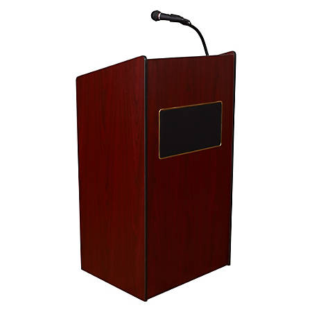 Oklahoma Sound? The Aristocrat Sound Lectern With Headset Wireless Microphone, Mahogany