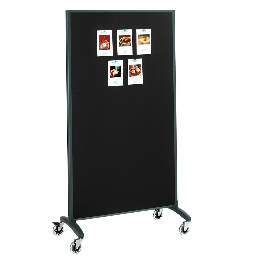 Quartet Motion 2 Sided Dry EraseBulletin Board Rolling Room Divider