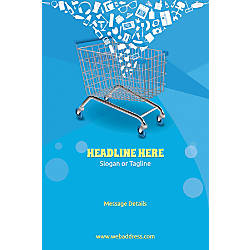 Custom Poster Shopping Cart Vertical