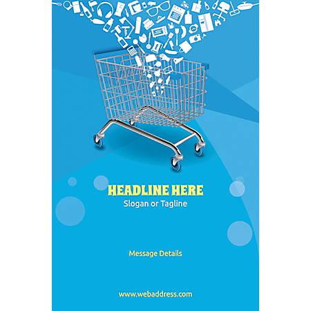 Custom Poster, Shopping Cart, Vertical