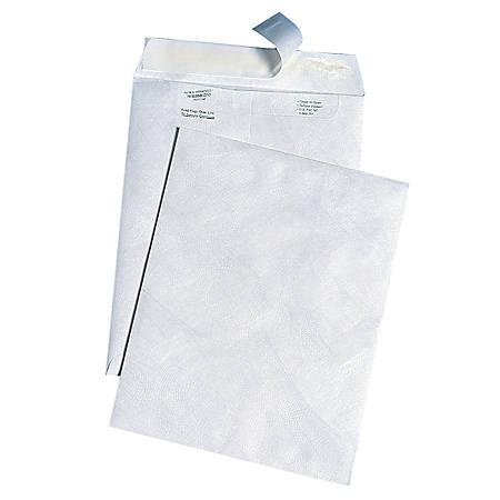 "Quality Park® Tyvek® Envelopes, 10"" x 13"", White, Box Of 100"
