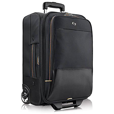 "Solo Urban Rolling Overnighter Case For 15.6"" Laptops, Black/Orange"