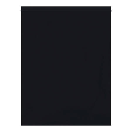 """Office Depot® Brand Reclosable Poly Bags, 12"""" x 15"""", Black, Case Of 1,000 Bags"""