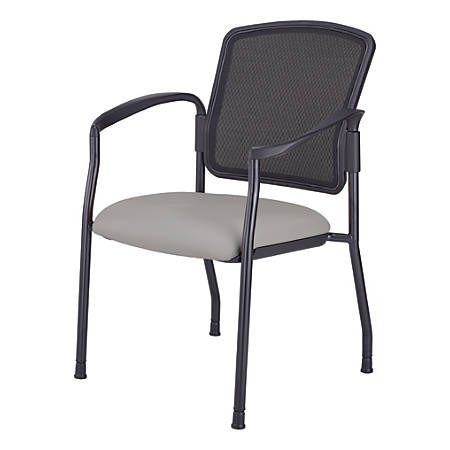 WorkPro® Spectrum Guest Chair With Arms, Gray/Black