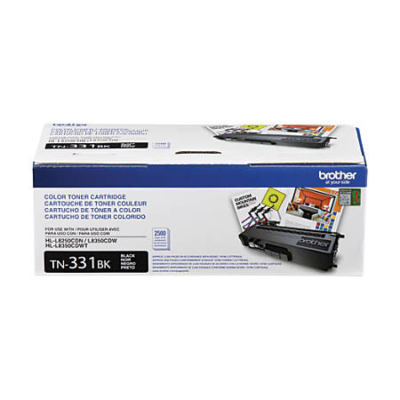 Brother® TN-331BK Toner Cartridge, Black
