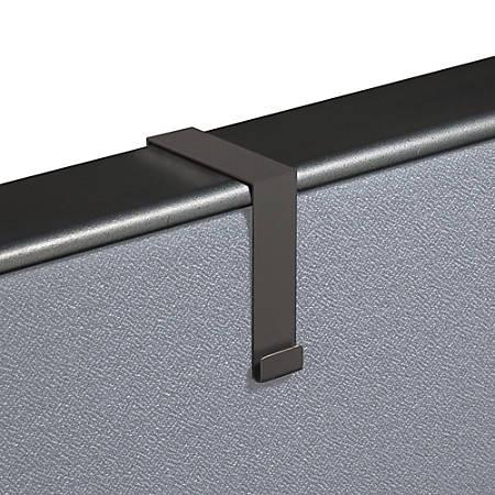 Partition Hangers For Quartet® Matrix® Bulletin Boards, Black, Set Of 2