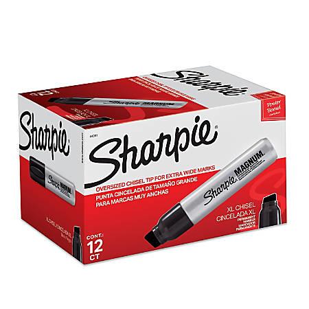Sharpie® Magnum® Permanent Marker, Black, Pack Of 12