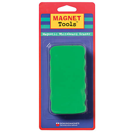 "Dowling Magnets Magnetic Whiteboard Eraser, 4 1/2"" x 2 1/2"", Assorted Colors, Pack Of 6"
