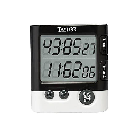 Taylor Dual Event Timer Table Clock - Digital - Quartz