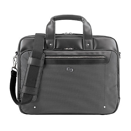 "Solo Park Briefcase With 15.6"" Laptop Pocket, Black"