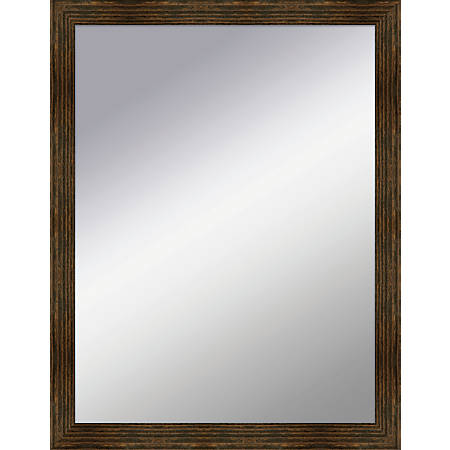 "PTM Images Framed Mirror, Box, 18""H x 14""W, Natural Black"