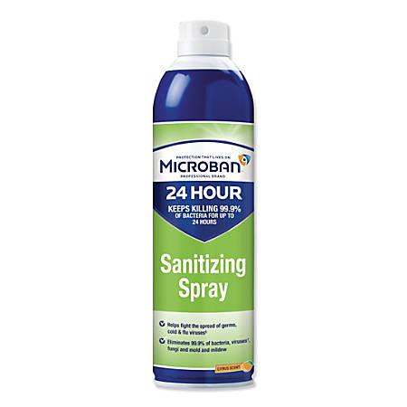Microban® 24-Hour Disinfectant Sanitizing Spray, Citrus Scent, 15 Oz