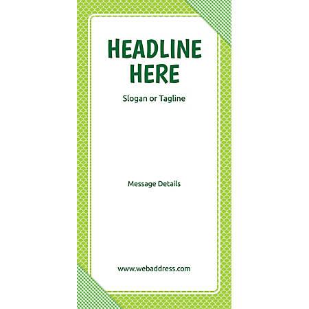 Custom Vertical Banner, Green Checks