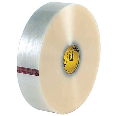 "3M® 371 Carton Sealing Tape, 3"" x 1,000 Yd., Clear, Case Of 4"
