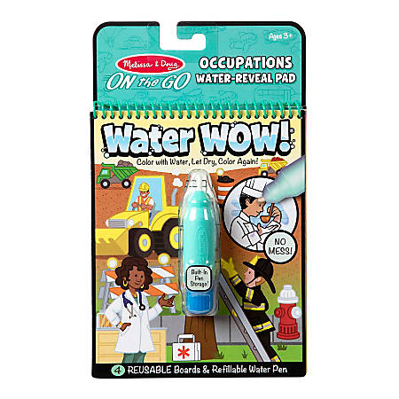 Melissa & Doug Activity Book, On-The-Go Water Wow!, Occupations