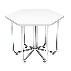 OFM Hex Series Table WhiteChrome