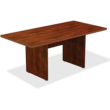 Lorell® Rectangle Conference Table, 6'W, Cherry