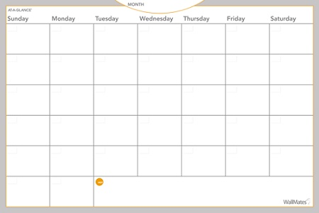 At A Glance Wallmates Dry Erase Calendar Surface 24 X 36 Monthly Undated Aw602028 By Office Depot Officemax