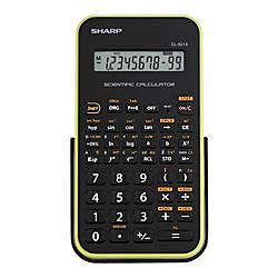 Sharp EL 501XBGR Scientific Calculator Green