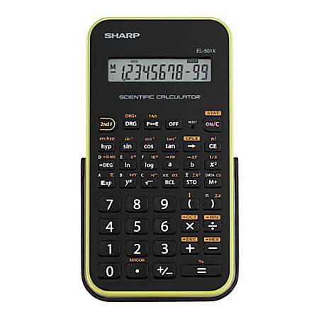 Sharp® EL-501XBGR Scientific Calculator, Green